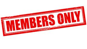 Members only. Stamp with text members only inside,  illustration Stock Photography