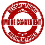 More convenient. Stamp with text more convenient inside,  illustration Royalty Free Stock Images