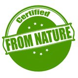 From nature. Stamp with text from nature inside,  illustration Royalty Free Stock Photos