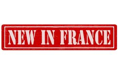 New in France. Stamp with text new in France inside,  illustration Royalty Free Stock Photos