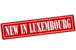 New in Luxembourg. Stamp with text new in Luxembourg inside,  illustration Stock Image