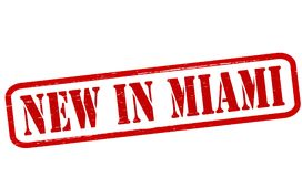 New in Miami. Stamp with text new in Miami inside,  illustration Stock Photo