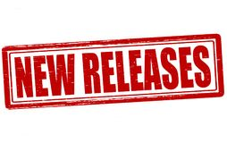 New releases. Stamp with text new releases inside,  illustration Royalty Free Stock Photos