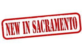 New in Sacramento. Stamp with text new in Sacramento inside,  illustration Stock Image