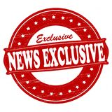 News exclusive. Stamp with text news exclusive inside,  illustration Royalty Free Stock Image