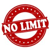 No limit. Stamp with text no limit inside,  illustration Royalty Free Stock Photos