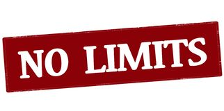 No limits. Stamp with text no limits inside, illustration Royalty Free Stock Photography