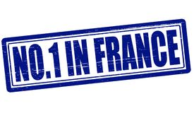 No one in France. Stamp with text no one in France inside,  illustration Stock Image