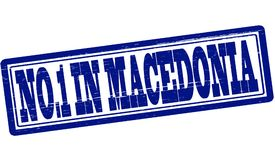 No one in Macedonia. Stamp with text no one in Macedonia inside,  illustration Stock Image