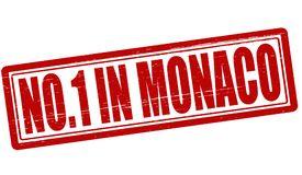 No one in Monaco. Stamp with text no one in Monaco inside,  illustration Royalty Free Stock Photos