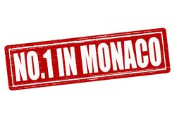 No one in Monaco. Stamp with text no one in Monaco inside,  illustration Stock Photography