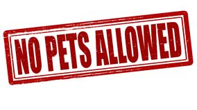 No pets allowed. Stamp with text no pets allowed inside,  illustration Stock Photo