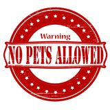 No pets allowed. Stamp with text no pets allowed inside,  illustration Stock Images