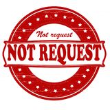 Not request. Stamp with text not request inside, illustration Royalty Free Stock Photo