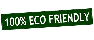 One hundred percent eco friendly Stock Photography