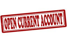 Open current account. Stamp with text open current account inside,  illustration Stock Photography