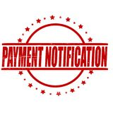 Payment notification. Stamp with text payment notification inside,  illustration Stock Image