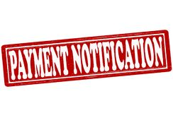 Payment notification. Stamp with text payment notification inside,  ilustration Stock Image