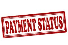 Payment status. Stamp with text payment status inside,  illustration Royalty Free Stock Photo