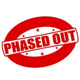Phased out. Stamp with text phased out inside,  illustration Stock Image