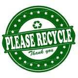 Please recycle Royalty Free Stock Photography