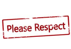 Please respect. Stamp with text please respect inside,  illustration Royalty Free Stock Photography