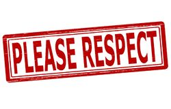 Please respect. Stamp with text please respect inside, illustration Stock Images