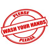 Please wash your hands. Stamp with text please wash your hands inside, illustration stock illustration