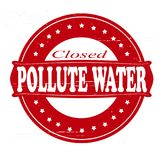 Pollute water. Stamp with text pollute water inside,  illustration Stock Image