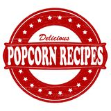 Popcorn recipes. Stamp with text popcorn recipes inside, illustration Stock Photography