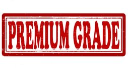 Premium grade. Stamp with text premium grade inside,  illustration Stock Photo