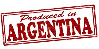 Produced in Argentina. Stamp with text produced in Argentina inside,  illustration Royalty Free Stock Images