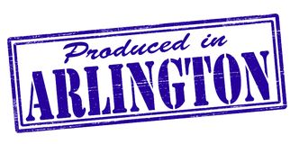 Produced in Arlington. Stamp with text produced in Arlington inside,  illustration Royalty Free Stock Photos