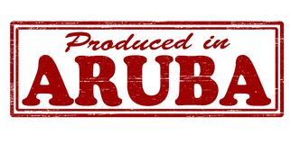 Produced in Aruba. Stamp with text produced in Aruba inside,  illustration Royalty Free Stock Photos
