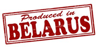 Produced in Belaru. Stamp with text produced in Belarus inside,  illustration Stock Photo