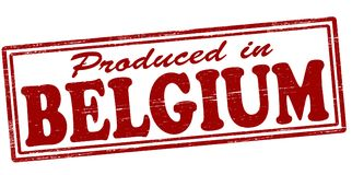 Produced in Belgium. Stamp with text produced in Belgium inside,  illustration Royalty Free Stock Images