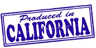 Produced in California. Stamp with text produced in California inside,  illustration Royalty Free Stock Photos