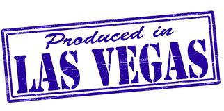 Produced in Las Vegas. Stamp with text produced in Las Vegas inside,  illustration Stock Images