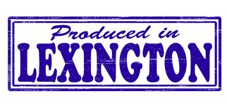 Produced in Lexington. Stamp with text produced in Lexington inside,  illustration Royalty Free Stock Image