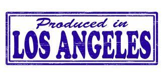 Produced in Los Angeles. Stamp with text produced in Los Angeles inside,  illustration Royalty Free Stock Photos