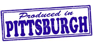 Produced in Pittsburgh. Stamp with text produced in Pittsburgh inside,  illustration Royalty Free Stock Photos