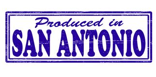 Produced in San Antonio. Stamp with text produced in San Antonio inside,  illustration Royalty Free Stock Photography