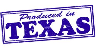 Produced in Texas. Stamp with text produced in Texas inside,  illustration Royalty Free Stock Photography