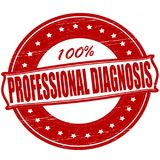 Professional diagnosis. Stamp with text professional diagnosis inside,  ilustration Stock Photo