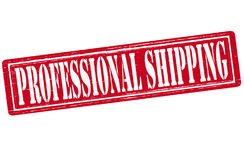 Professional shipping. Stamp with text professional shipping inside,  illustration Royalty Free Stock Image