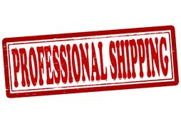 Professional shipping. Stamp with text professional shipping inside,  illustration Royalty Free Stock Photos