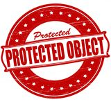 Protected object. Stamp with text protected object inside,  ilustration Royalty Free Stock Photo