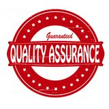 Quality assurance. Stamp with text quality assurance inside,  illustration Stock Photos