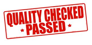 Quality checked passed. Stamp with text quality checked passed inside,  illustration Royalty Free Stock Image
