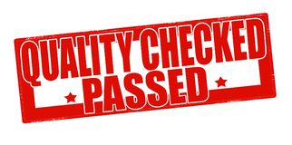 Quality checked passed. Stamp with text quality checked passed inside,  illustration Royalty Free Stock Photos